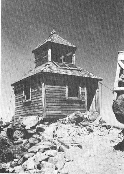 Crater Lake: Original Watchman Fire Tower, built in 1917