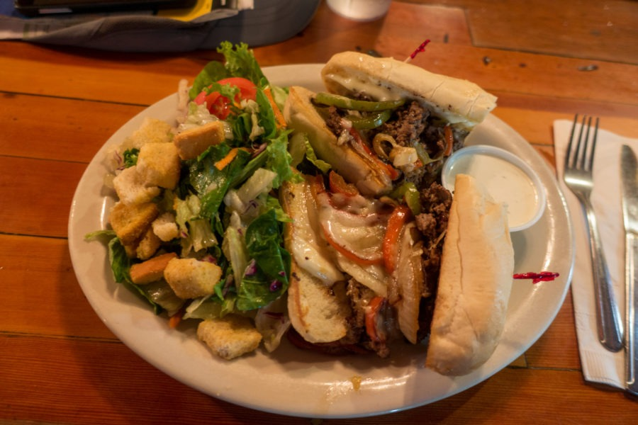 Crater Lake: Cheese Steak from Beckie's Cafe