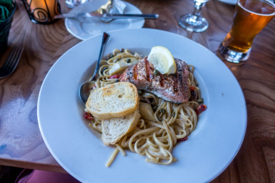 Crater Lake: Lodge Pacific Crest Pasta with Salmon