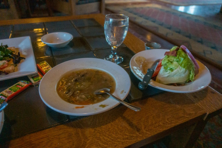 Crater Lake Lodge: Dining in Great Hall Lodge with Soup and Wedge Salad
