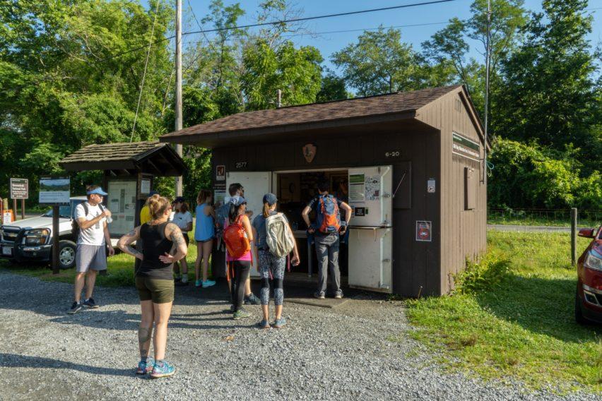 """Shenandoah: """"Ranger Booth at Old"""" Old Rag Parking Lot"""