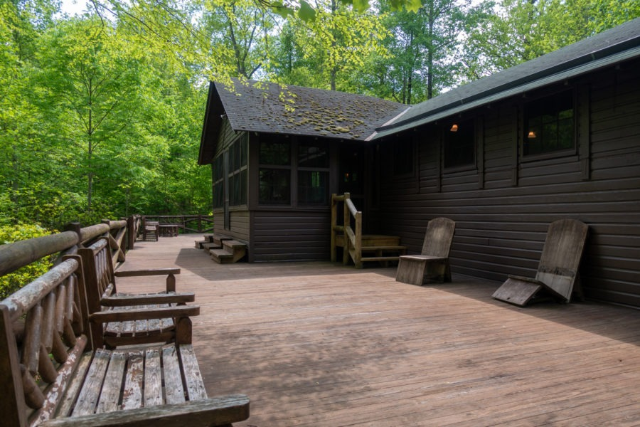 Shenandoah: Back Porch of Brown House at Rapidan Camp