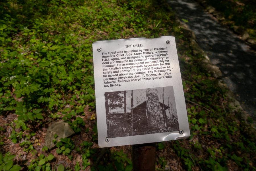 Shenandoah: Creel Information Sign