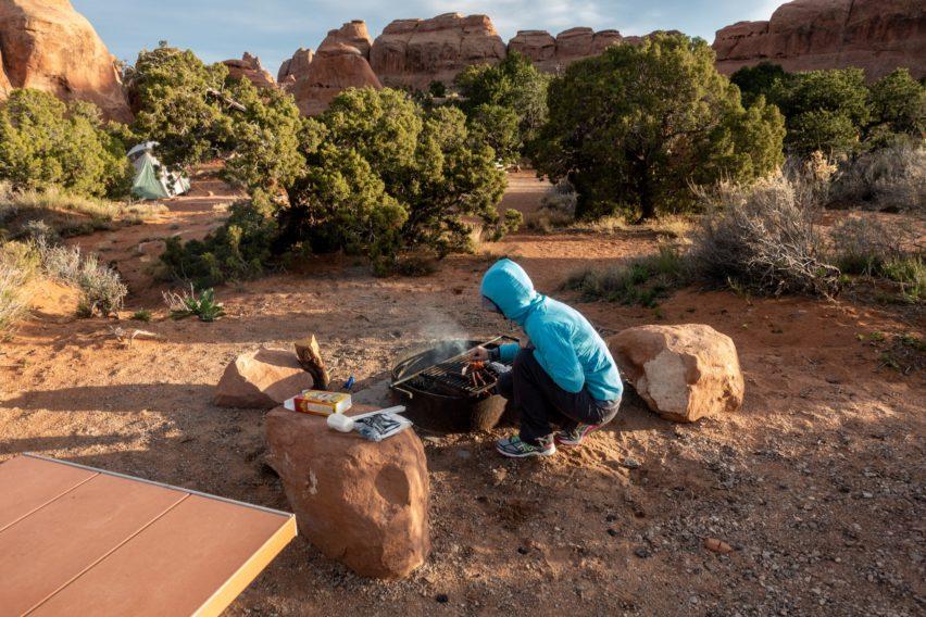 Arches: Making Dinner at Devils Garden Campground (Site 24)