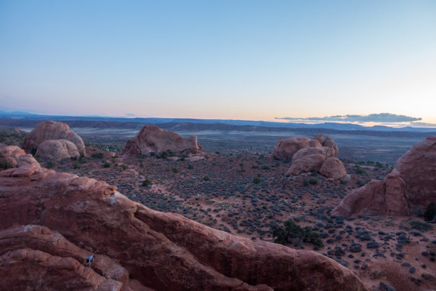 Arches: Looking through Skyline Arch to the West