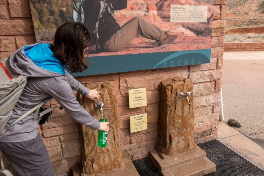 Arches: Getting Water at Visitor Center