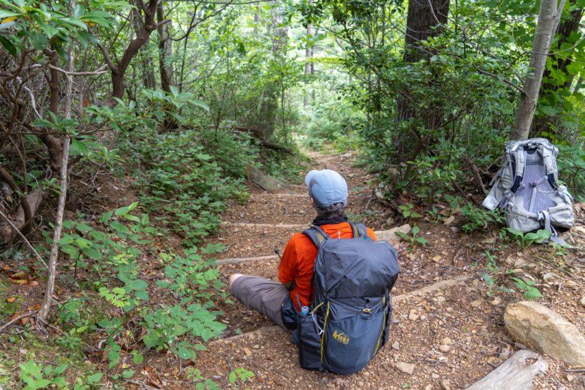 Shenandoah: Taking Break on Hannah Run Trail
