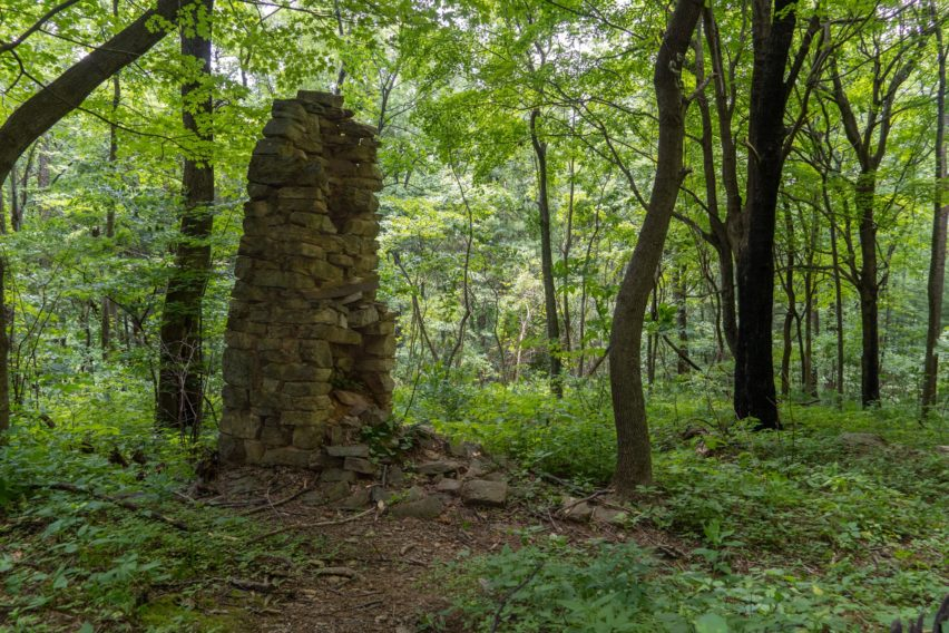 Shenandoah: Old Fireplace along Hannah Run Trail