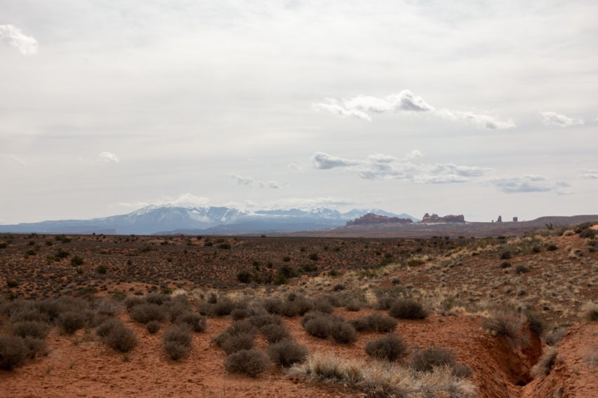 Arches: View From Salt Valley Road Toward La Sal Mountains