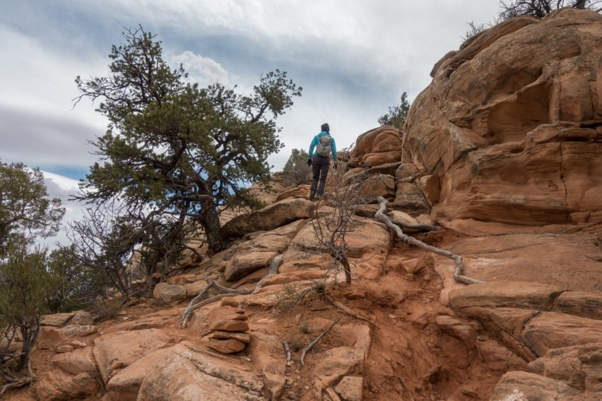 Arches: Initial Uphill Scramble Tower Arch Trail