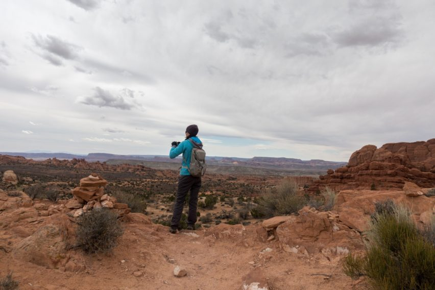 Arches: Looking Out Over Valley on Tower Arch Trail