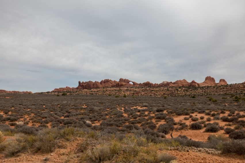 Arches: View of Skyline Arch from Salt Valley Road