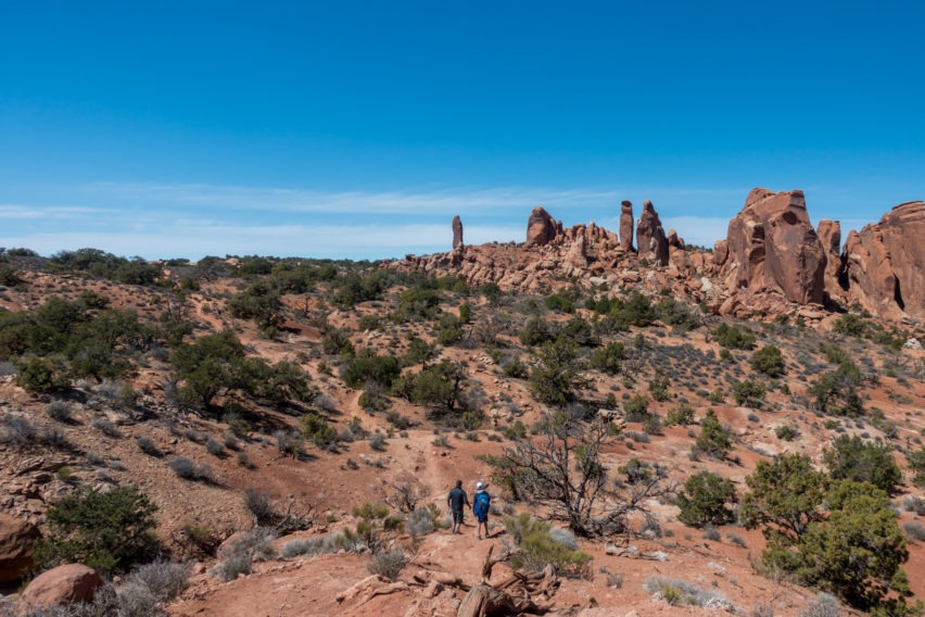 Arches: On Dark Angel Trail Going Toward the Obelisk