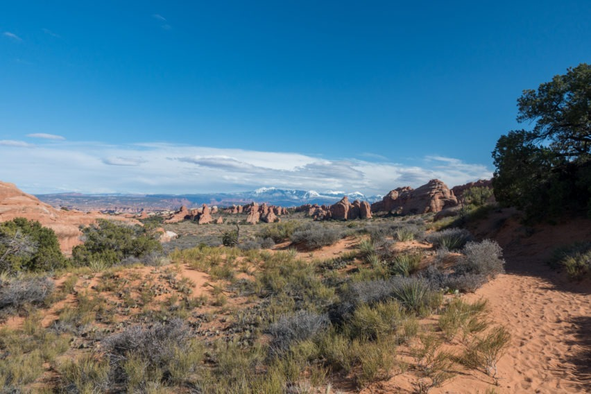Arches: View Near the End of Primitive Trail at Devils Garden