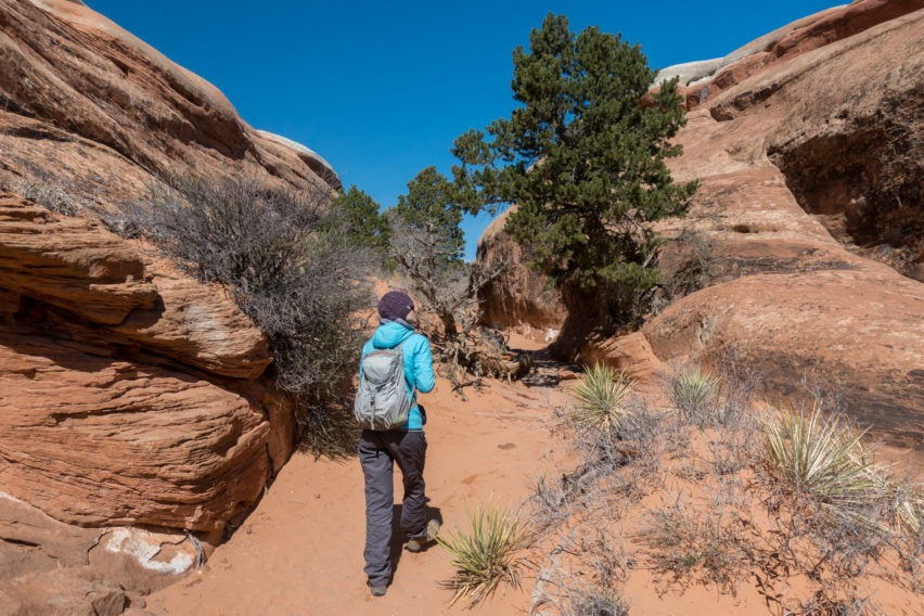 Arches: Heading Toward Partition and Navajo Arches Intersection on Devils Garden Trail