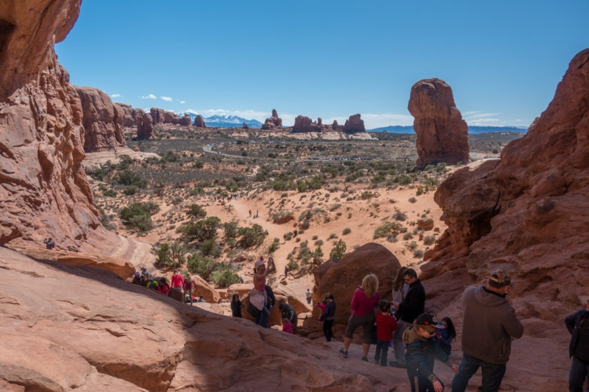 Arches: Looking Out From Behind Double Arch