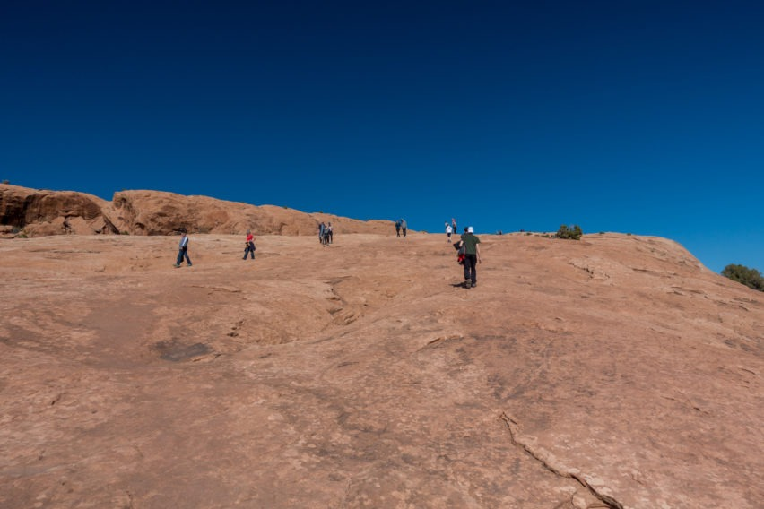 Arches: Continuing our Journey up the Sandstone Slope on Delicate Arch Trail