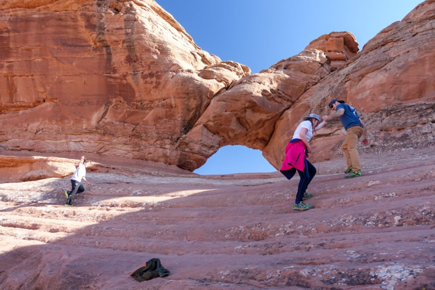 Arches: Climbing up to Frame Arch