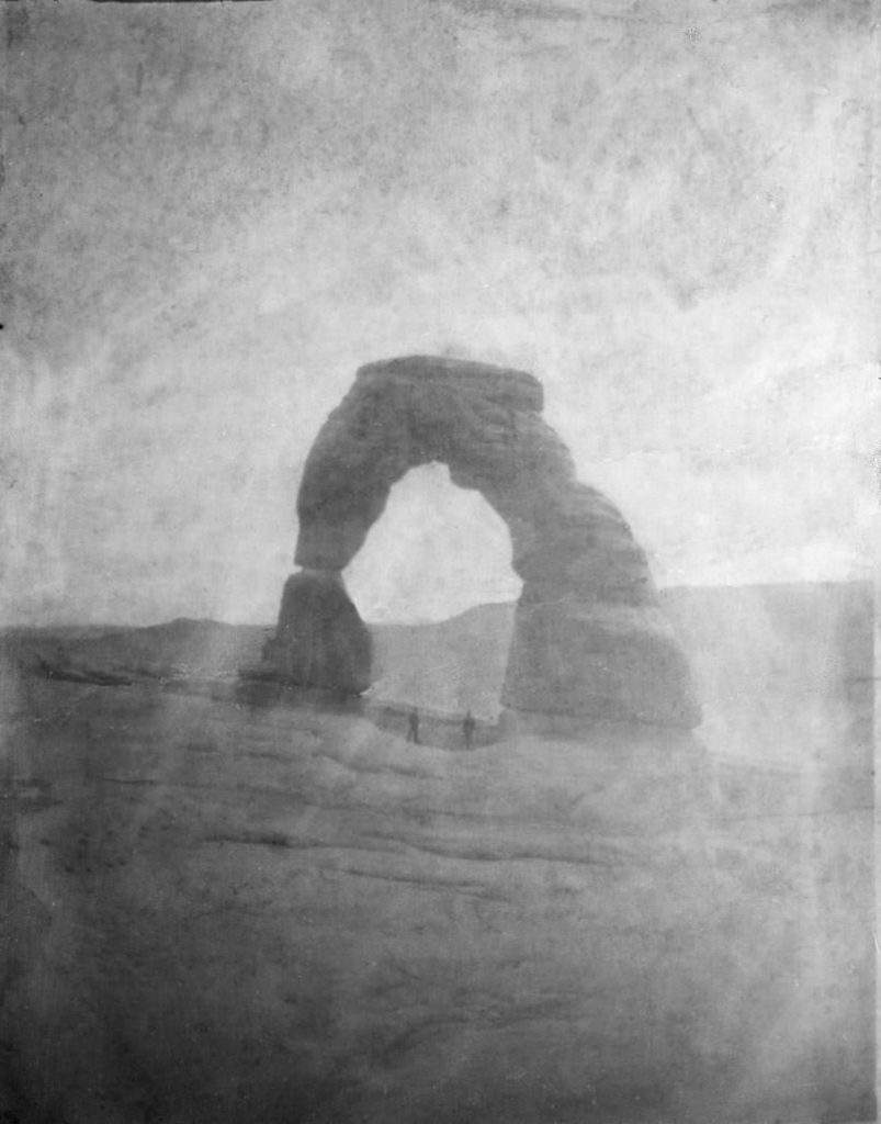 Arches: First Photo of Delicate Arch by Flora Stanley, 1906