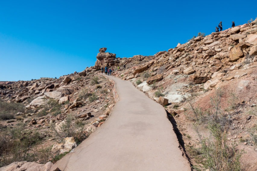 Arches: Up a Paved Incline on Delicate Arch Trail