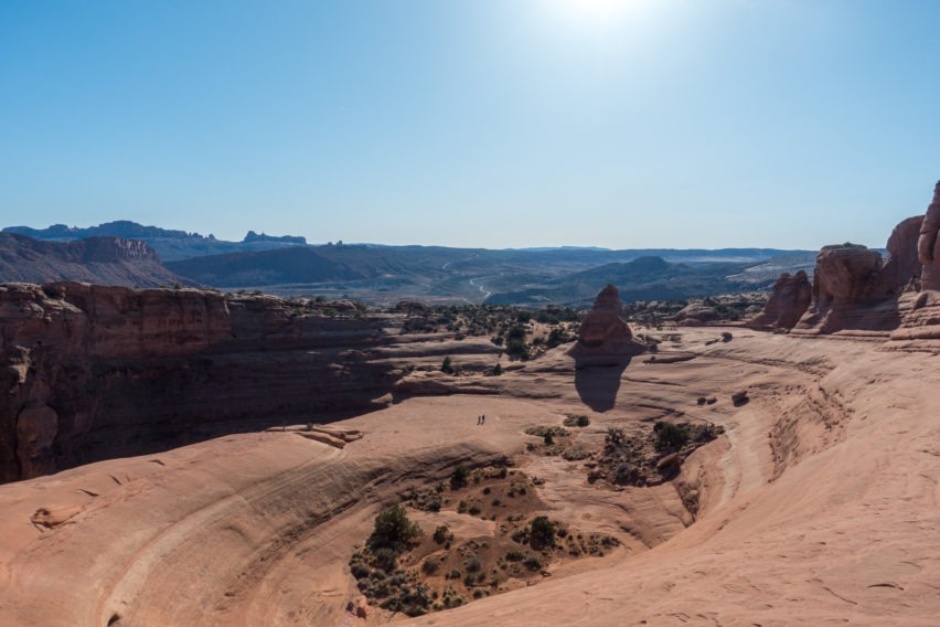 Arches: Looking at Bowl Next to Delicate Arch