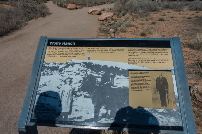 Arches: Informational Sign at Wolfe Ranch