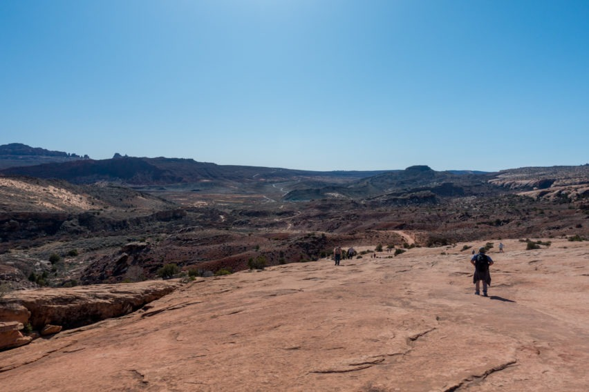 Arches: Looking Back On Delicate Arch Trail
