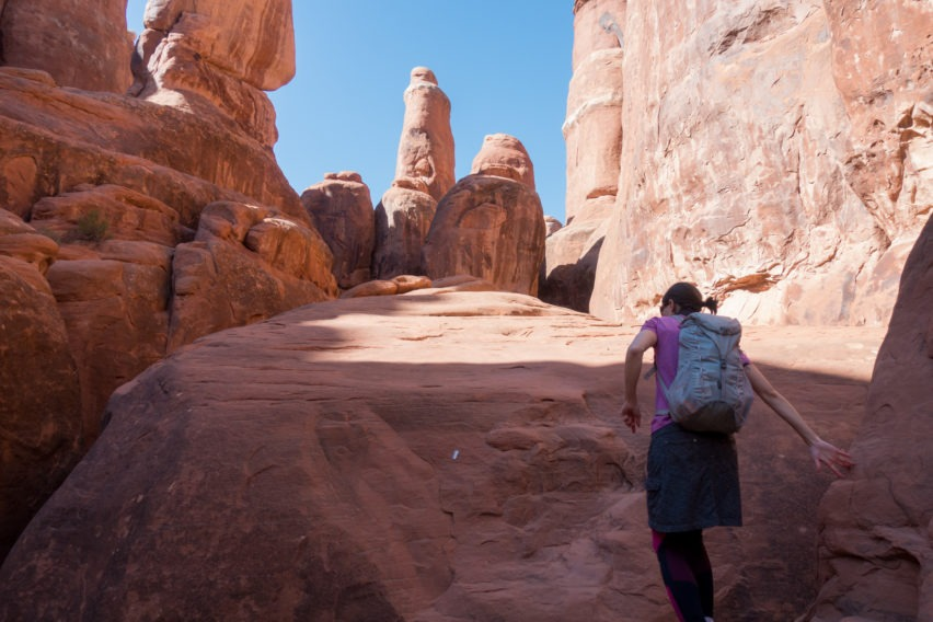 Arches: Ascending Sandstone in Fiery Furnace