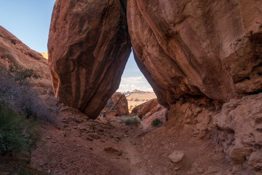 Arches: Rock Overhangs Marking the Exit of Fiery Furnace