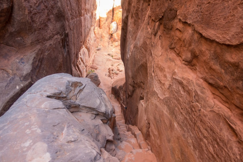 Arches: Stairs Leading Out of Fiery Furnace