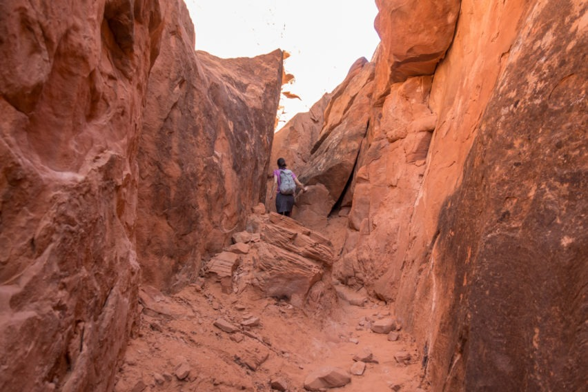 Arches: Through Narrow Area in Fiery Furnace
