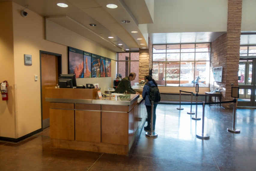 Arches: Visitor Center Getting Fiery Furnace Permits