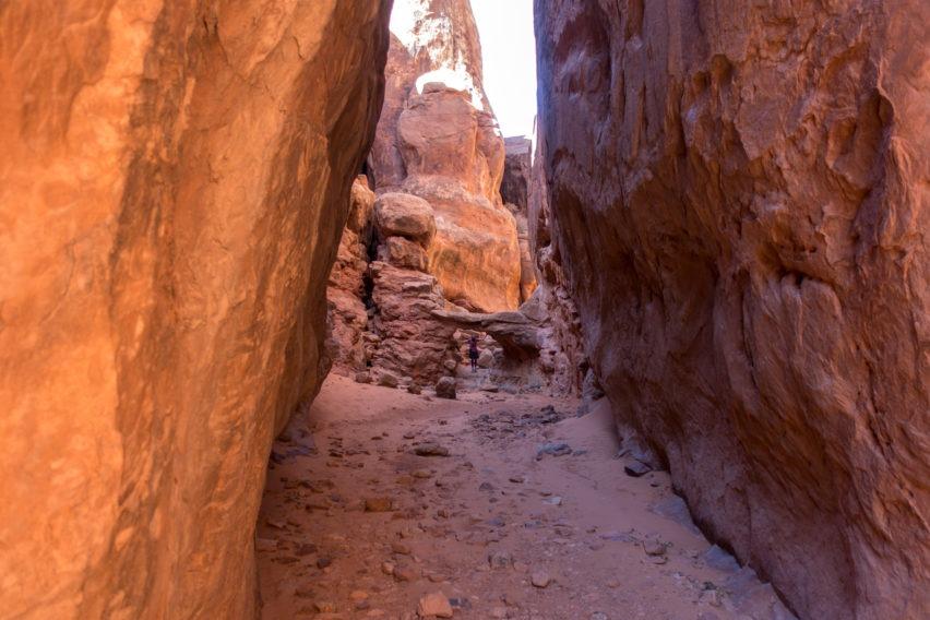 Arches: Narrow Route to Walk Through Bridge